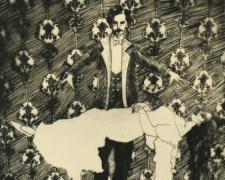 "Stephanie Mercado, ""Untitled"", 2012, drypoint, ed. 8/10, f.s. 17 1/2 x 13 3/4"" / p.s. 15 3/4 x 12 1/2"""