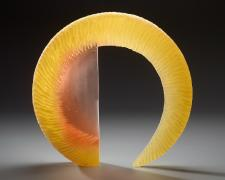 """Arch, cast and cut glass, 20 x 21 x 3"""""""
