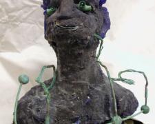 """Frogman, 1998, cast glass, 30 x 24 x 12"""""""
