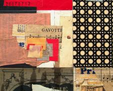 ancient architecture, 2007, mixed media collage, 8 1/2 x 6 1/2""