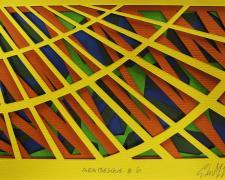 "Arabesque #6, 2015 cut paper i.s. 4 1/2 x 7""/f.s. 12 x 15 1/4 x 1 1/2"""