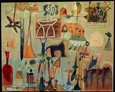 Noumenon Series #2 2006 Oil painting with mixed media on wood 48 x 60""