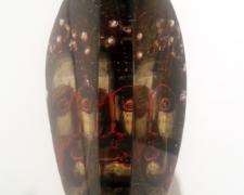"""Janus ( View 2 ) 2012 sandcast glass head: 8 1/2 x 9 x 5""""/base: 60 x 12 x 12"""""""
