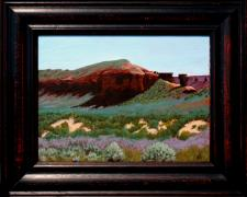 "Dinosaur Country (Near Vernal, UT), 2013, acrylic on canvas panel, f.s. 13 1/2 x 16 1/2"" / i.s. 9 x 12"""