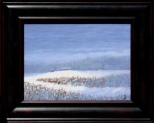 "After the Early Snow, 2013, acrylic on canvas panel, f.s. 13 1/2 x 16 1/2"" / i.s. 9 x 12"""