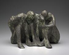 "Gossip Series Study #3, 2004, bronze, 8 x 5 1/2 x 6"""