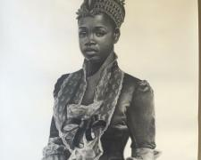 """Bride Price, 2016, charcoal on paper, 50 x 38"""""""