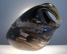 Brittle Fracture, 2012, hot sculpted glass, 11 x 16 x 8""