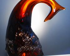 Regional, 2012, hot sculpted glass, 19 x 14 x 6""