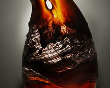 Sunset Shear, 2012, hot sculpted glass, 20 x 10 x 5""