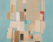 """Caesura, 2015, vintage paper, acrylic, graphite, collage i.s. 20 x 14""""/f.s. 29 x 23"""""""