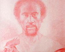 """Cephas, 2005, China marker on paper, i.s. 22 x 16"""" / p.s. 26 x 20"""""""