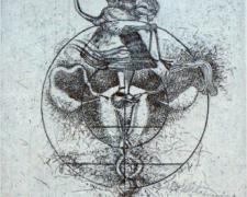 "Sex Education, USA, 2001, etching, 15 x 11"", ed. 9/12"