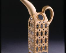 Fosdyke Gold Teapot, 2006, hot blown/sandsculpted, etc., 12 x 7 x 2 1/2""