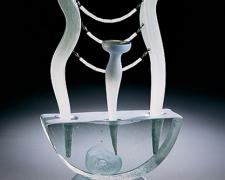 Mystic, 2006, blown and hot-sculpted glass with sandcast base, 25 1/2 x 15 1/2 x 6""