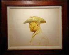 "Cowboy, c. 1974, acrylic wash on paper, i.s. 18 x 14""/f.s. 21 x 25"", (Secondary Market)"