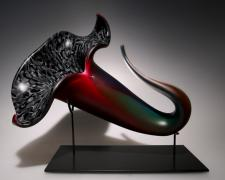 Bloom (multi), 2012, blown, hot sculpted glass, murrine, matte finish, 16 x 11 x 13""