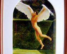 "Daedulus, 1995, acrylic wash on paper, p.s.  24 x 17""/f.s. 34 1/2 x 27"", (Secondary Market)"