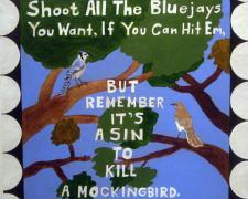 "To Kill A Mockingbird, 2010, terracotta with oil, 34 x 8 x 9"""
