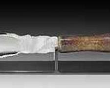 "Rhino Knife #2, 2005, cast, blown glass, 20 x 3"""