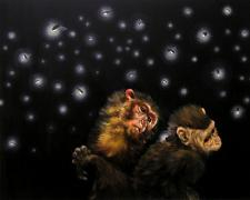 Firefly Catchers #3 2003 Oil on cradled Masonite 16 x 20""