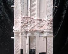 "Austin, 2010, mixed media sculpture, 10 x 12 1/2 x 3"""