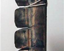 """Cullman, 2010, mixed media sculpture, 16 1/2 x 5 1/2 x 3 1/2"""""""