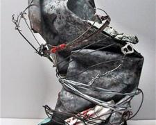 Desoto, 2010, mixed media sculpture, 13 1/2 x 8 x 6""