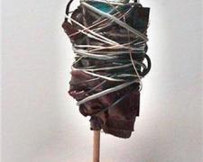 Riverton, 2010, mixed media sculpture, 9 x 5 1/2 x 3 1/2""