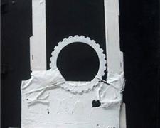 """Roblin, 2010, mixed media sculpture, 18 x 12 x 3 1/2"""""""