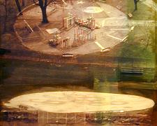 Playground 2004 Mixed media on panel 9 x 7""