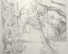 "Before I wake 2012 Graphite on paper 16 x 18"""