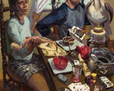 """Feeding the Bird 2006 oil on canvas 51 x 38"""""""