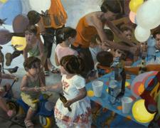 """Festa, 2008, oil on linen, 40 x 66"""""""
