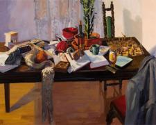 A Measured Absence 2007 oil on canvas 36 x 60""