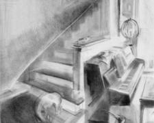 """Sonata in D 2006 graphite on paper 23 x 15"""""""