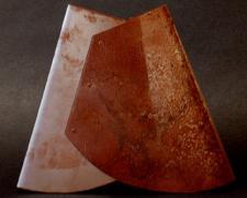 "The Letter A: Flat #S6 2004 Sandblasted steel 11 1/2 x 13 x 1 3/4"""