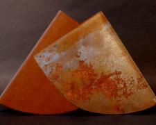 "The Letter A: Flat Medium Mix 2004 Sandblasted steel: treated 16 1/2 x 26 x 1 1/2"""