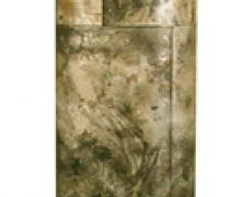 Double 2002 Oxidation-fired terra cotta and steel 80 x 26 x 18""