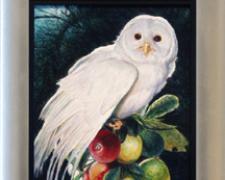 "Eden, 2004, acrylic on panel, 18 x 9"""