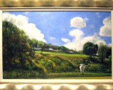 """Europa, 2008, acrylic on panel, i.s. 14 1/2 x 23 1/4"""""""
