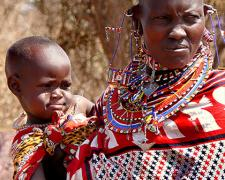 Massai Mother and Child #2, 2009, archival inkjet print, 12 x 15""