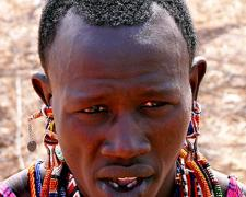 Massai Warrior #3, 2009, archival inkjet print, 12 x 15""