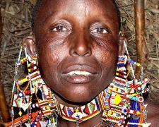 """Massai Woman #1, 2009, archival inkjet print, 12 x 15"""""""