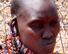 """Massai Woman #2, 2009, archival inkjet print, 12 x 15"""""""