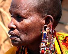 """Massai Woman #4, 2009, archival inkjet print, 12 x 15"""""""