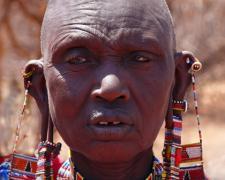 """Massai Woman #5, 2009, archival inkjet print, 12 x 15"""""""