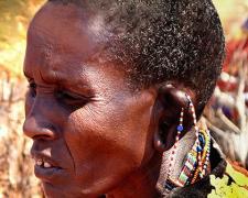 """Massai Woman #7, 2009, archival inkjet print, 12 x 15"""""""