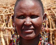 """Massai Woman #8, 2009, archival inkjet print, 12 x 15"""""""