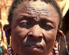 """Massai Woman #9, 2009, archival inkjet print, 12 x 15"""""""